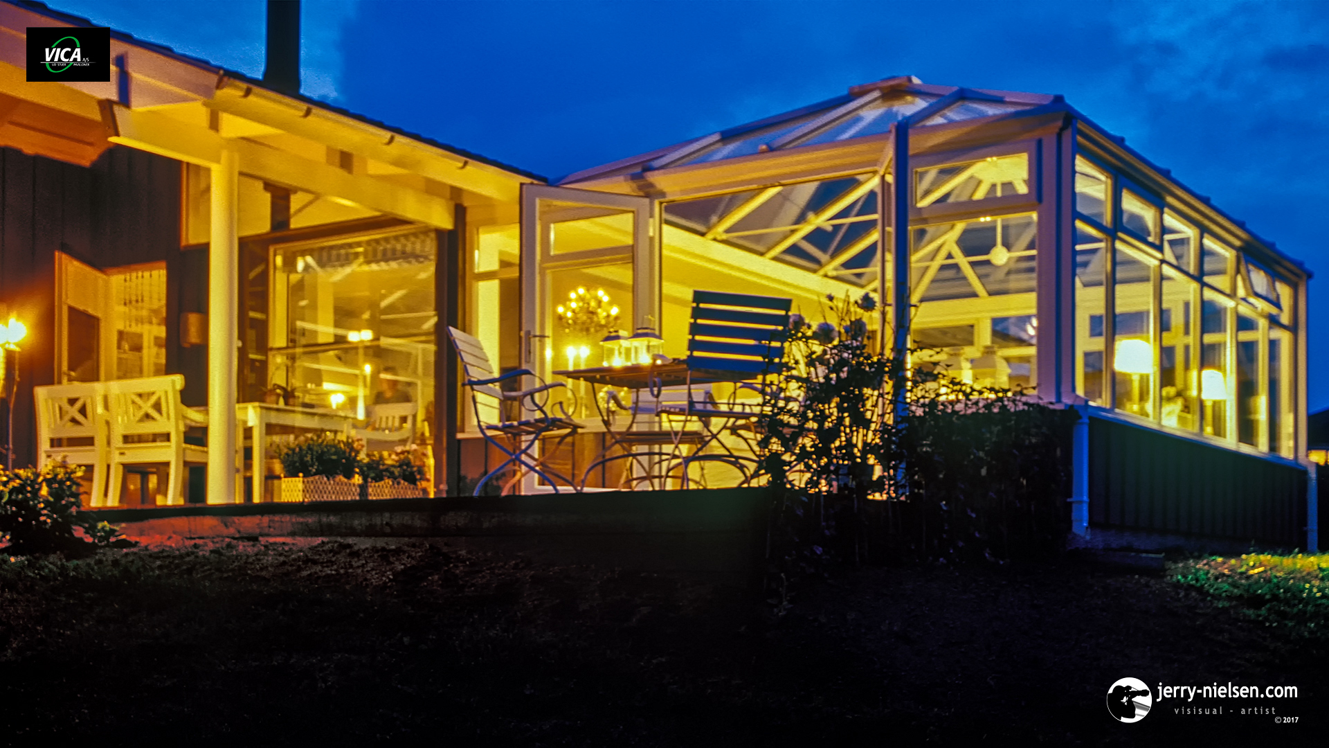 VICA Conservatory at Night