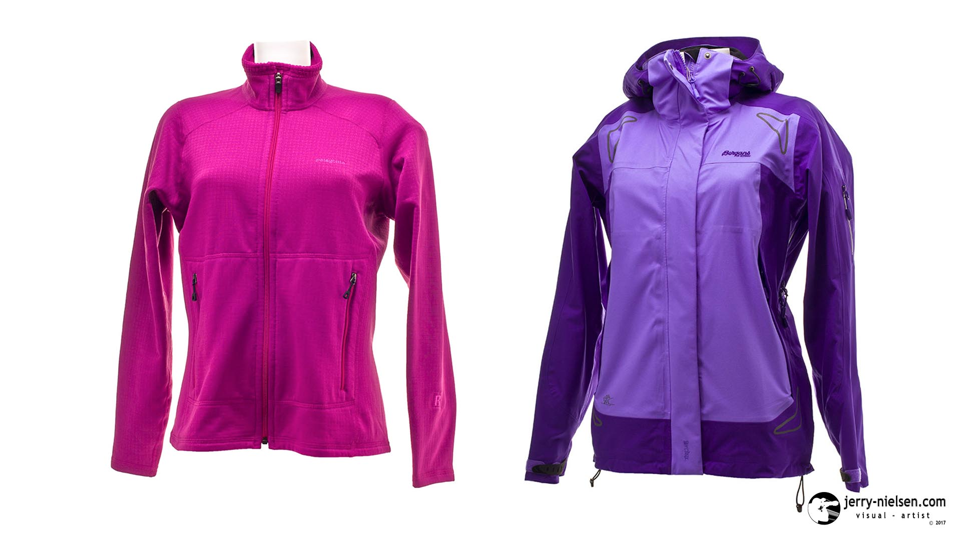 Female Patagonia Fleece and Bergans Jacket