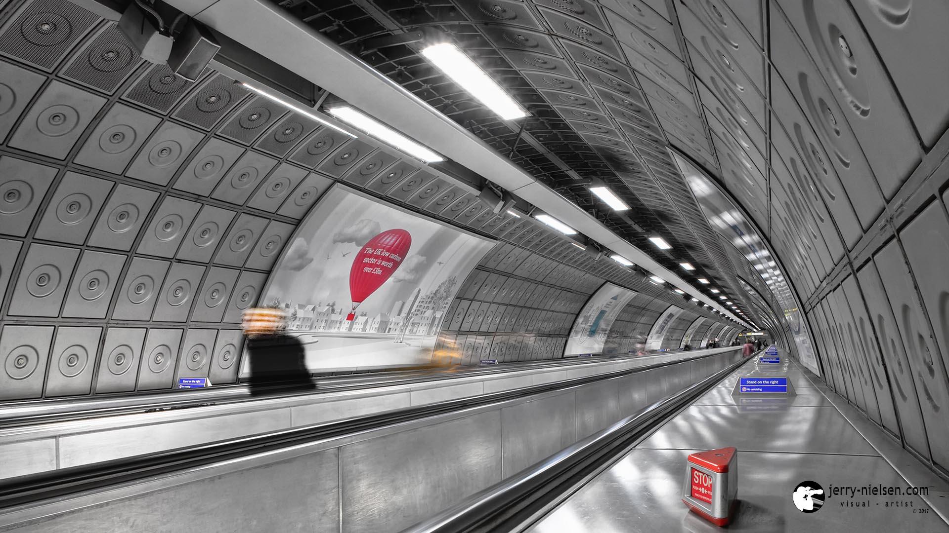Walkway in a London Underground.