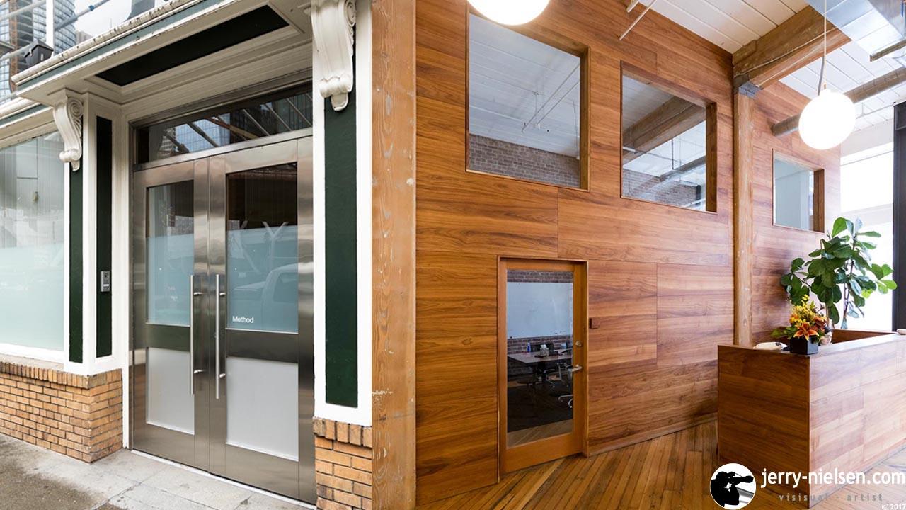 Method Entrance, both outside and inside.