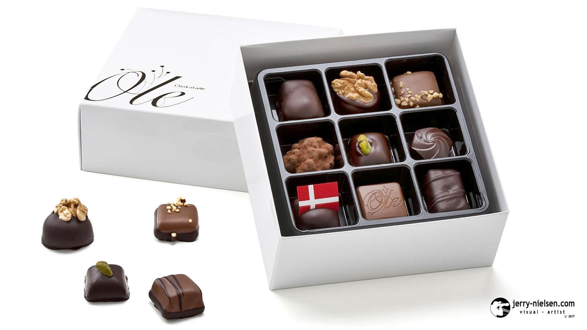 Ole Chokolade, White Box Chocolates.